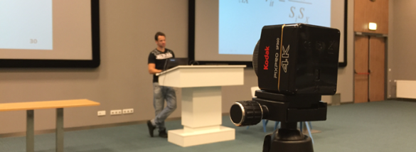 The SP360 filming a lecture