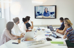 Group of people video conferencing